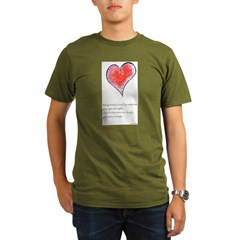 Love Deeply Organic Men's T-Shirt (dark)