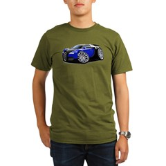 Veyron Black-Blue Car Organic Men's T-Shirt (dark)