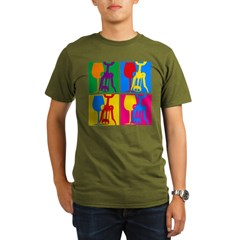 Pop Art Wine Organic Men's T-Shirt (dark)
