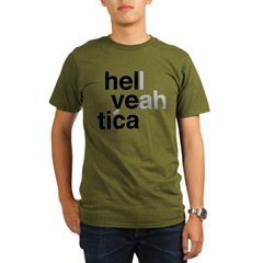 helvetica hell yeah Organic Men's T-Shirt (dark)