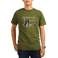 My Husband Wears Combat Boots Organic Men's T-Shirt (dark)