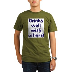 Drinks well with others. Organic Men's T-Shirt (dark)