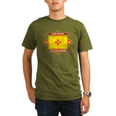2-New Mexico diamond Organic Men's T-Shirt (dark)