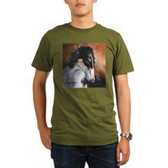 Borzoi by Dawn Secord Organic Men's T-Shirt (dark)