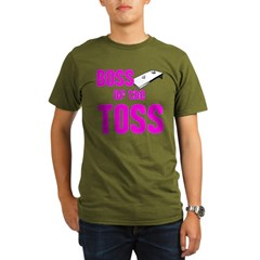 Boss of the Toss Organic Men's T-Shirt (dark)