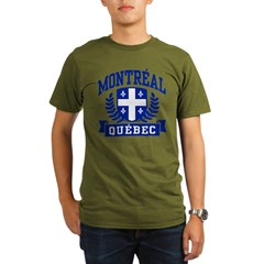 Montreal Quebec Organic Men's T-Shirt (dark)