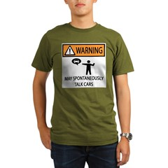Car Talk Warning Organic Men's T-Shirt (dark)