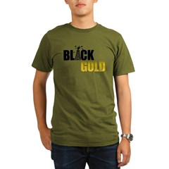 Black Gold Oil Organic Men's T-Shirt (dark)