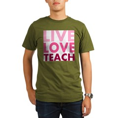 Live Love Teach Organic Men's T-Shirt (dark)