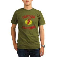 Captain Awesome Organic Men's T-Shirt (dark)