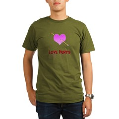 Love Hurts Organic Men's T-Shirt (dark)