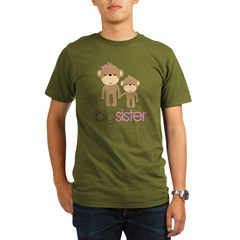 monkey big sister Organic Men's T-Shirt (dark)
