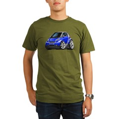 Smart Blue Car Organic Men's T-Shirt (dark)