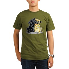 Black Fawn Pug Organic Men's T-Shirt (dark)