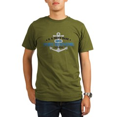 US Navy Port Hueneme Lake Bas Organic Men's T-Shirt (dark)