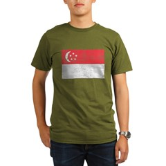 Singapore Flag Organic Men's T-Shirt (dark)