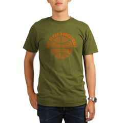 Basketball Organic Men's T-Shirt (dark)