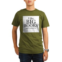 I LIke Big Books Organic Men's T-Shirt (dark)