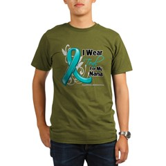 I Wear Teal Nana Ovarian Cancer Organic Men's T-Shirt (dark)