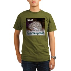 My Attitude Hedgehog Ash Grey Organic Men's T-Shirt (dark)