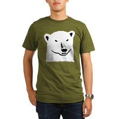 Andy the polar bear plain black Organic Men's T-Shirt (dark)