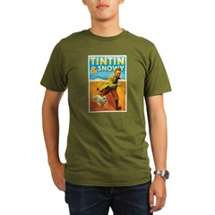 Tintin & Snowy Organic Men's T-Shirt (dark)