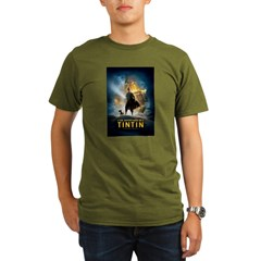 Tintin Movie Organic Men's T-Shirt (dark)