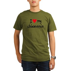 I LOVE MY Chiweenie Organic Men's T-Shirt (dark)