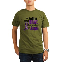 Angel 1 Pancreatic Cancer Organic Men's T-Shirt (dark)