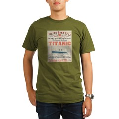 Titanic Advertising Card Organic Men's T-Shirt (dark)