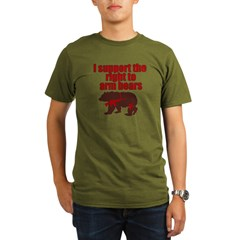 Right to arm bears Organic Men's T-Shirt (dark)