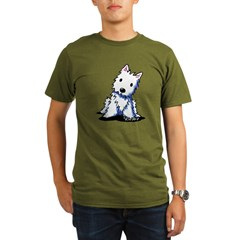 Vintage KiniArt Westie Organic Men's T-Shirt (dark)