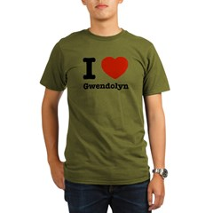 I love Gwendolyn Organic Men's T-Shirt (dark)