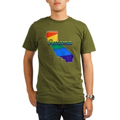 Paloma, California. Gay Pride Organic Men's T-Shirt (dark)