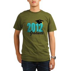 2012 graduate aqua Organic Men's T-Shirt (dark)