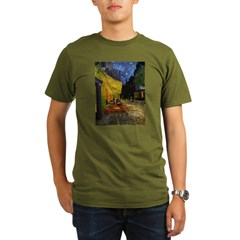 Van Gogh Cafe Terrace At Night Organic Men's T-Shirt (dark)