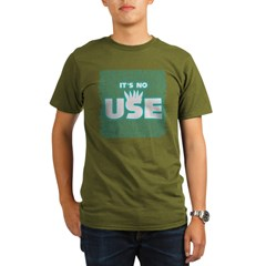 SOS10 - 'It's No Use' Fitted Organic Men's T-Shirt (dark)
