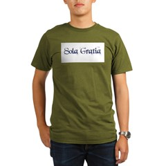 Sola Gratia Organic Men's T-Shirt (dark)