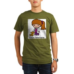 Future Veterinarian Girl Organic Men's T-Shirt (dark)
