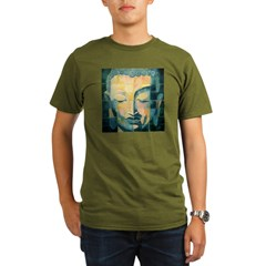 Tiled Buddha Ash Grey Organic Men's T-Shirt (dark)