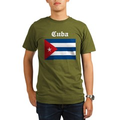 Cuban Flag Organic Men's T-Shirt (dark)