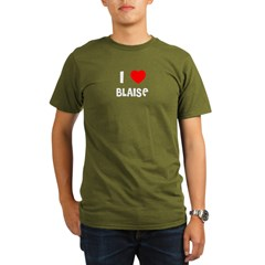 I LOVE BLAISE Black Organic Men's T-Shirt (dark)