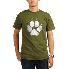 Dog Track Pawprint Black Organic Men's T-Shirt (dark)
