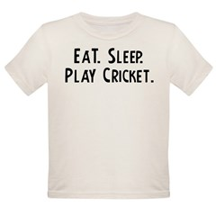 Eat, Sleep, Play Cricket Infant Creeper Organic Toddler T-Shirt