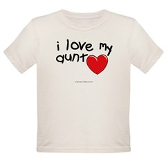 I Love My Aunt Infant Creeper Organic Toddler T-Shirt
