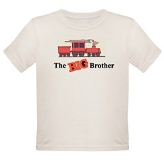 Big Brother - Trains Organic Toddler T-Shirt