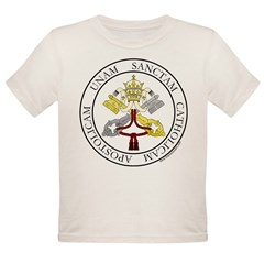 4 Marks of the Church - Latin Infant Creeper Organic Toddler T-Shirt