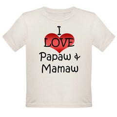 I Love Papaw & Mamaw Infant Creeper Organic Toddler T-Shirt