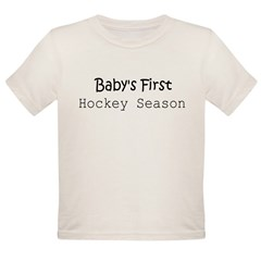 Baby's First Hockey Season Infant Creeper Organic Toddler T-Shirt