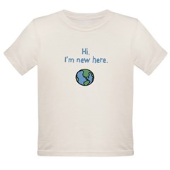 I'm new here. Organic Toddler T-Shirt